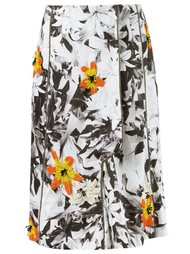 floral embroidery flare skirt Isabela Capeto