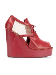 leather wedge sandals Isabela Capeto