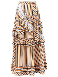 stripe ruffled skirt Isabela Capeto