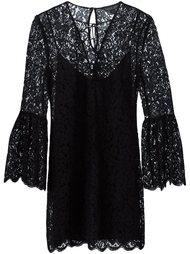 расклешенное кружевное мини-платье Rachel Zoe