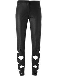 брюки с отделкой лентами Romeo Gigli Vintage