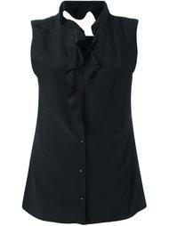 блузка с рюшами и вырезными деталями Maison Margiela