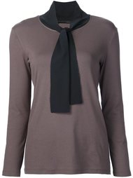блузка с завязками на шее Fabiana Filippi