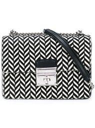 сумка через плечо с узором-елочкой Dolce & Gabbana
