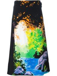 юбка с узором Victoria Victoria Beckham