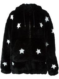 меховое пальто со звездами Filles A Papa