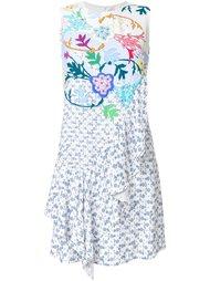 асимметричное платье с оборками  Peter Pilotto