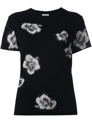 футболка с цветочными элементами Saint Laurent