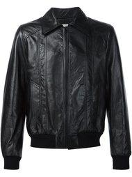 куртка на молнии с классическим воротником Saint Laurent