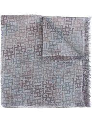 шарф с мелким принтом Hemisphere