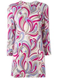 платье мини с абстрактным узором Emilio Pucci Vintage