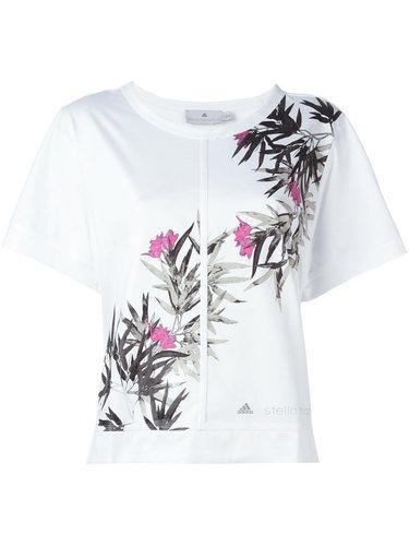 футболка с цветочным принтом Adidas By Stella Mccartney