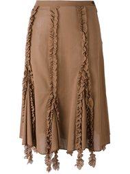 юбка с оборками Romeo Gigli Vintage