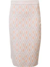 вязаная юбка с разноцветным узором Leo & Sage