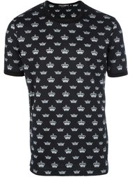 футболка с принтом корон Dolce & Gabbana
