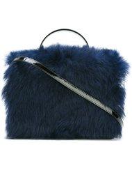 сумка на плечо с меховой отделкой Vivienne Westwood