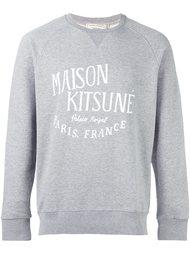 logo print sweatshirt Maison Kitsuné