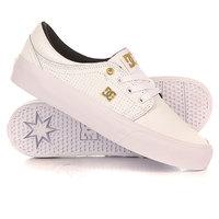Кеды кроссовки низкие женские DC Trase Le White/Gold
