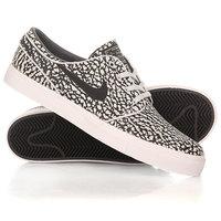 Кеды кроссовки низкие Nike Zoom Stefan Janoski Elite Pure Platinum/Black White