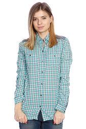 Рубашка в клетку женская Roxy Peachy Baltic Blue