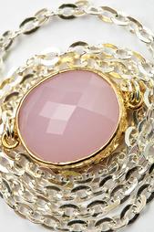 "Кулон с цепью ""Розовый кварц"" Patricia Bruni"