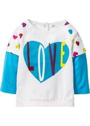 Мода для малышей: свитшот из биохлопка, Размеры  56/62-104/110 (цвет белой шерсти) Bonprix