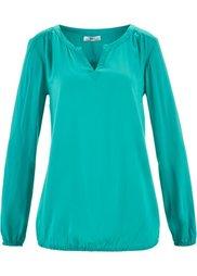 Свободная блузка с длинным рукавом (темно-синий с рисунком) Bonprix