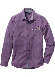 Рубашка Regular Fit с длинным рукавом (черный/белый в продольную поло) Bonprix