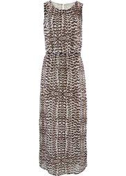 Длинное платье (черный/серебристый матовый) Bonprix