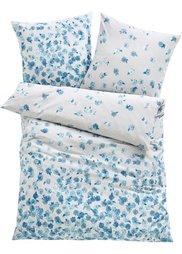 Постельное белье Цветочное море, линон (синий) Bonprix