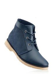 Кожаные ботинки на шнурках (антрацитовый) Bonprix
