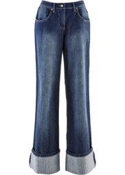 Широкие джинсы-стретч (голубой выбеленный) Bonprix