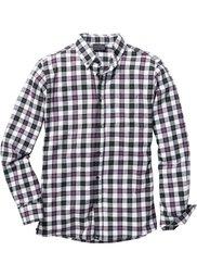 Фланелевая рубашка Regular Fit в клетку (сине-зеленый/белый/темно-синий) Bonprix