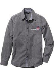 Рубашка Regular Fit с длинным рукавом (виноградный/белый в полоску) Bonprix