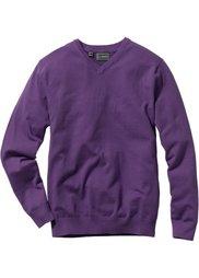 Пуловер Regular Fit с V-образным вырезом (красный) Bonprix