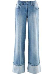 Широкие джинсы-стретч (темный деним) Bonprix