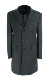 Пальто из смеси шерсти и кашемира с подстежкой HUGO BOSS Black Label