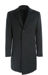 Шерстяное однобортное пальто HUGO BOSS Black Label