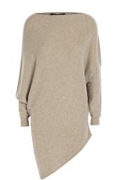 Удлиненный кашемировый пуловер с вырезом-лодочка Ralph Lauren