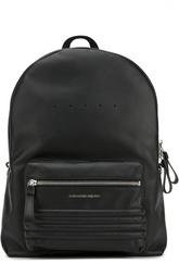 Кожаный рюкзак с заклепками на лямках Alexander McQueen