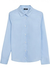 Хлопковая блуза с воротником кент Dal Lago