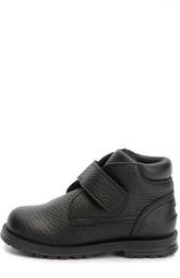 Кожаные ботинки с застежкой велькро Dolce & Gabbana