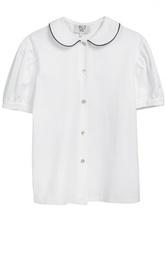 Хлопковая блуза с коротким рукавом Caf