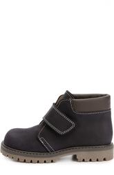 Нубуковые ботинки с застежкой велькро Gallucci