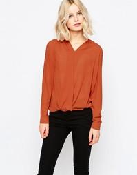 Блузка с запахом спереди Glamorous - Выгоревший оранжевый