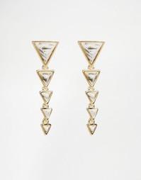 Серьги-подвески с пирамидками House Of Harlow - Золотой