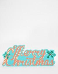 Пластина с надписью Merry Christmas Temerity Jones - Мульти