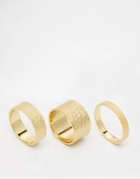 Набор из трех кованых колец Gorjana - Золотой