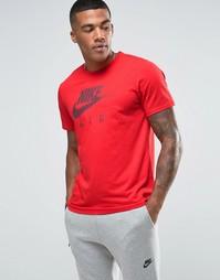 Красная футболка с принтом Nike Air 805220-657 - Красный