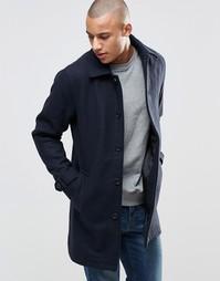 Шерстяное пальто Produkt - Темно-синий